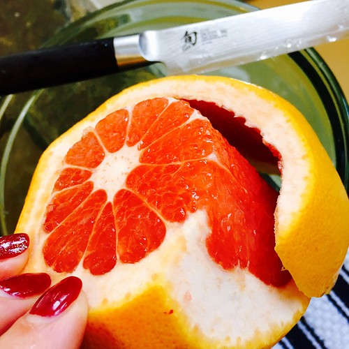 Sectioning a grapefruit
