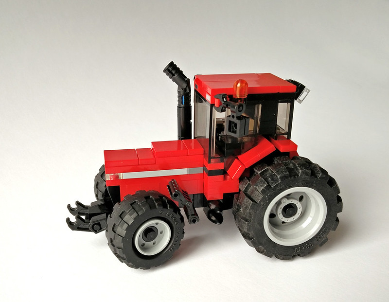 Moc case magnum tractor lego town eurobricks forums for Case lego city