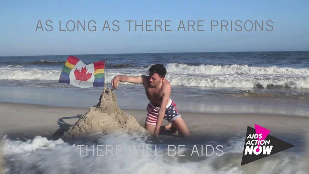 图一 Alexis Mitchell(1983- )《只要世上还有监狱,就会有爱滋》(2013)(图片来源:Poster/VIRUS)