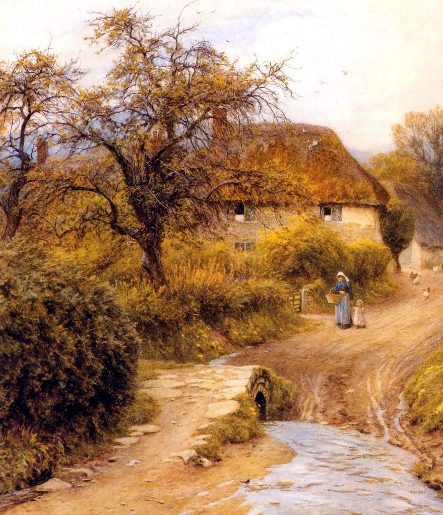 Hill Farm, Symondsbury by Helen Allingham
