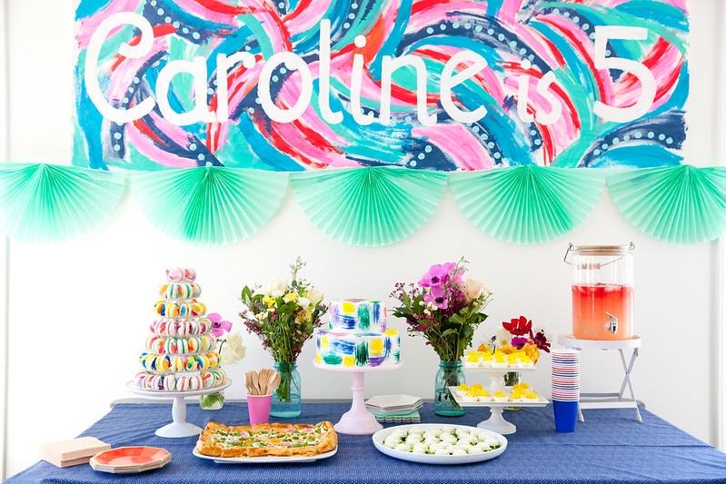 Caroline Turns Five: A Bright and Bold Art Party