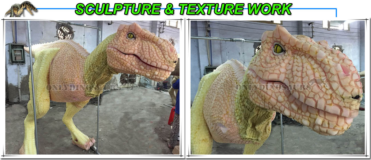 Sculpture Work for T-Rex Suit