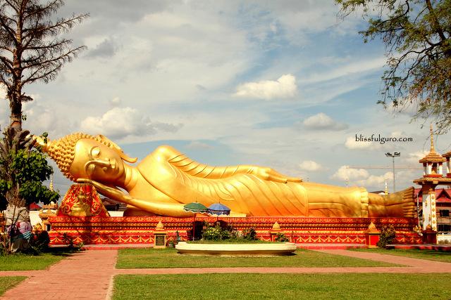 Reclining Buddha Vientiane Laos