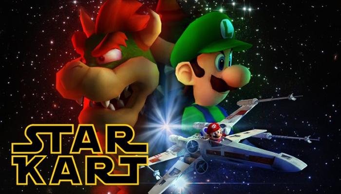 Fã Cria Um Vídeo Fantástico Misturando Mario e StarWars