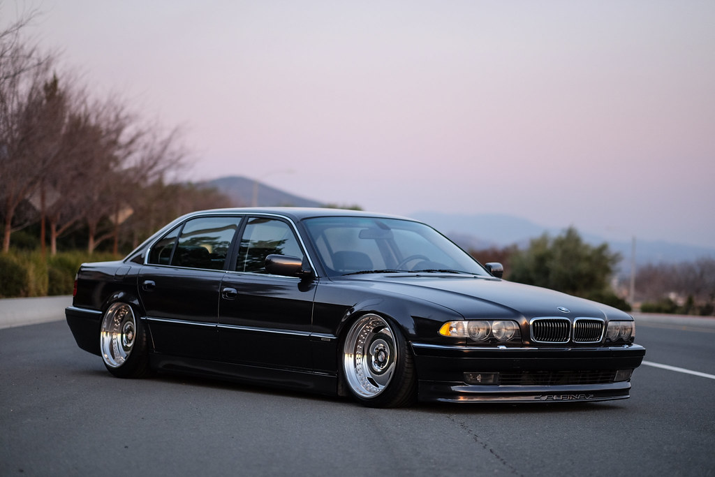 BMW 740iL On BC Coilovers