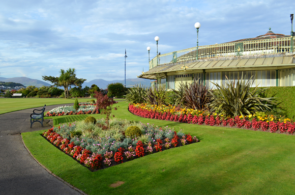 Award winning flower displays, Winter Gardens, Rothesay, Bute