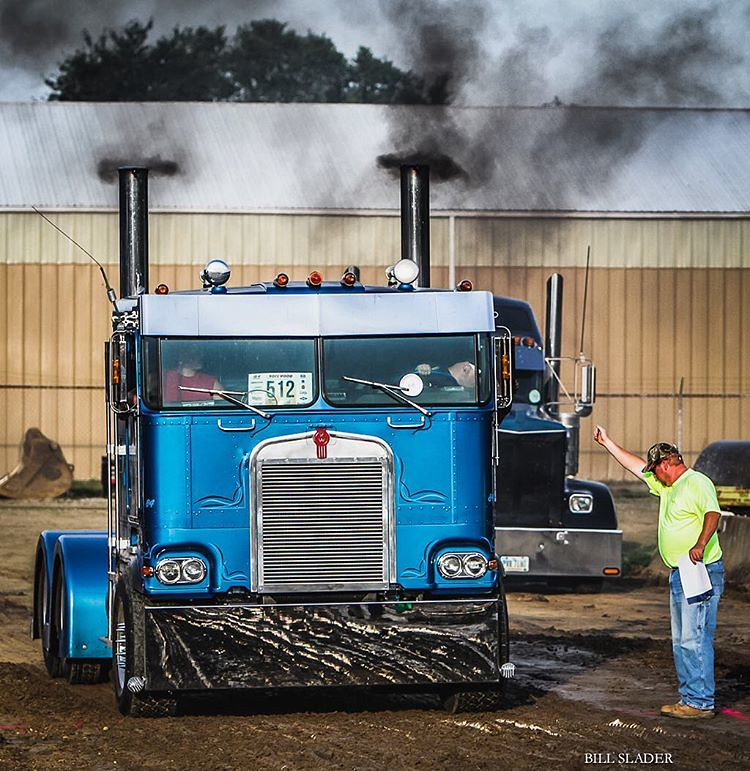 Semi Truck Drag Racing At Outville Power Show Sponsored By