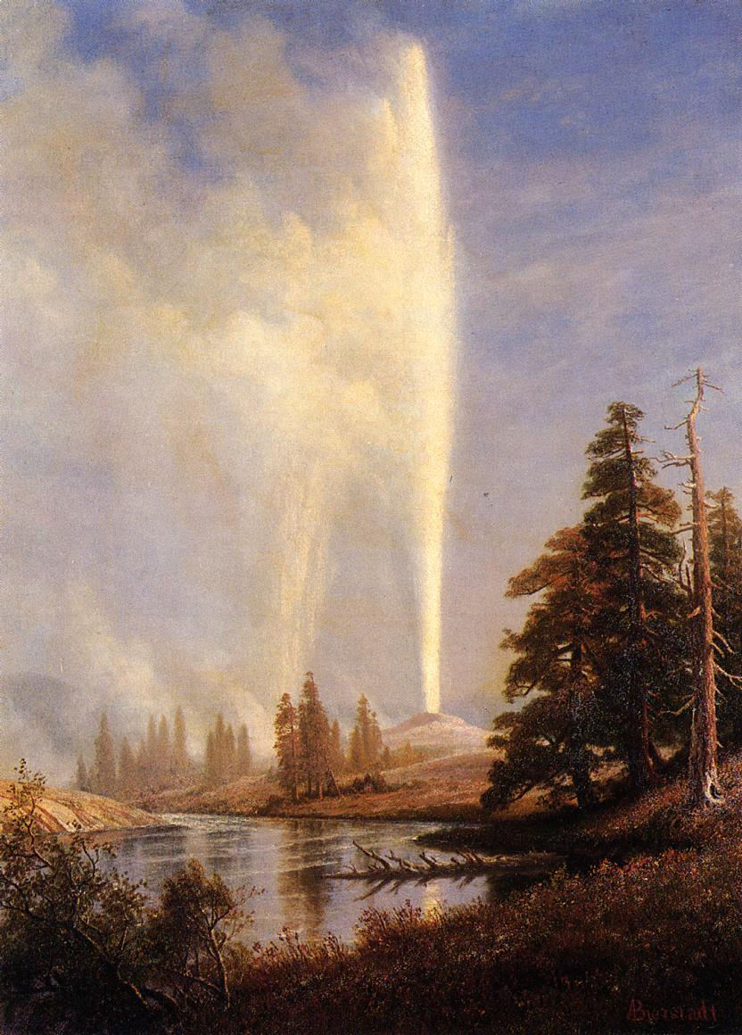 Old Faithful by Albert Bierstadt, (1830 - 1902)