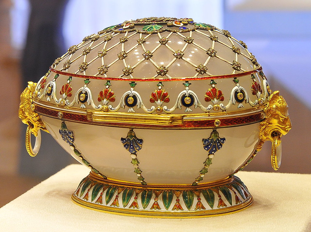 Imperial easter egg Renaissance from the collection of the Fabergé Museum in Saint Petersburg, Russia.