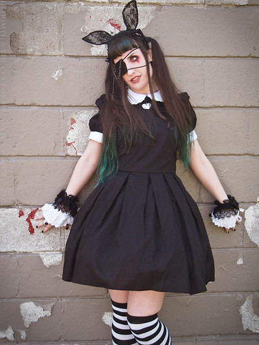 guro gothic easter bunny outfit