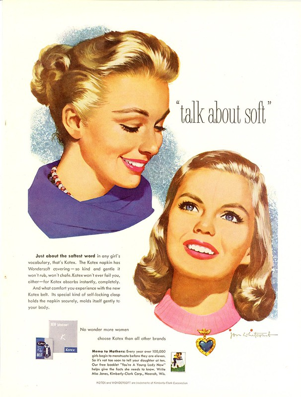 Kotex - published in Woman's Day - January 1958