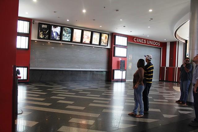 Las funciones de Cines Unidos en Ciudad Guayana se redujeron a su máxima expresión por la medida de ...