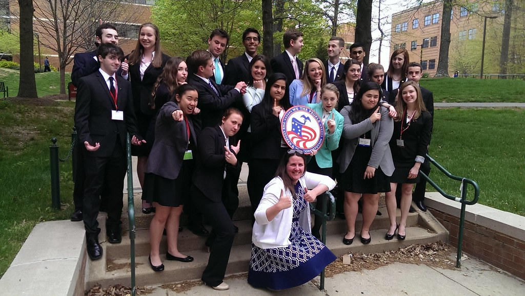 Katie Boland and her students at the 2015 We the People National Finals