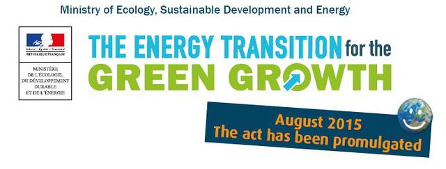 法國能源轉型法2015年八月生效。
