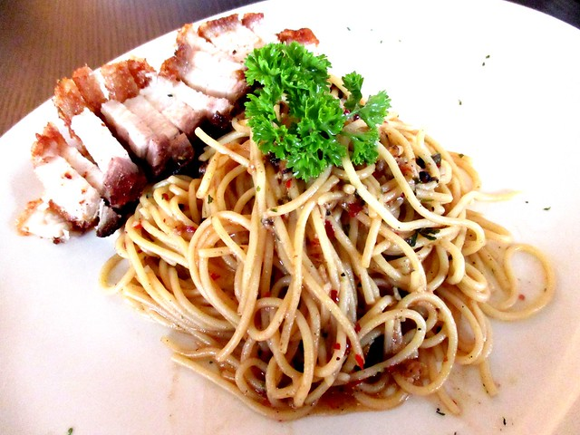 Eternal Dining house pasta with roast pork