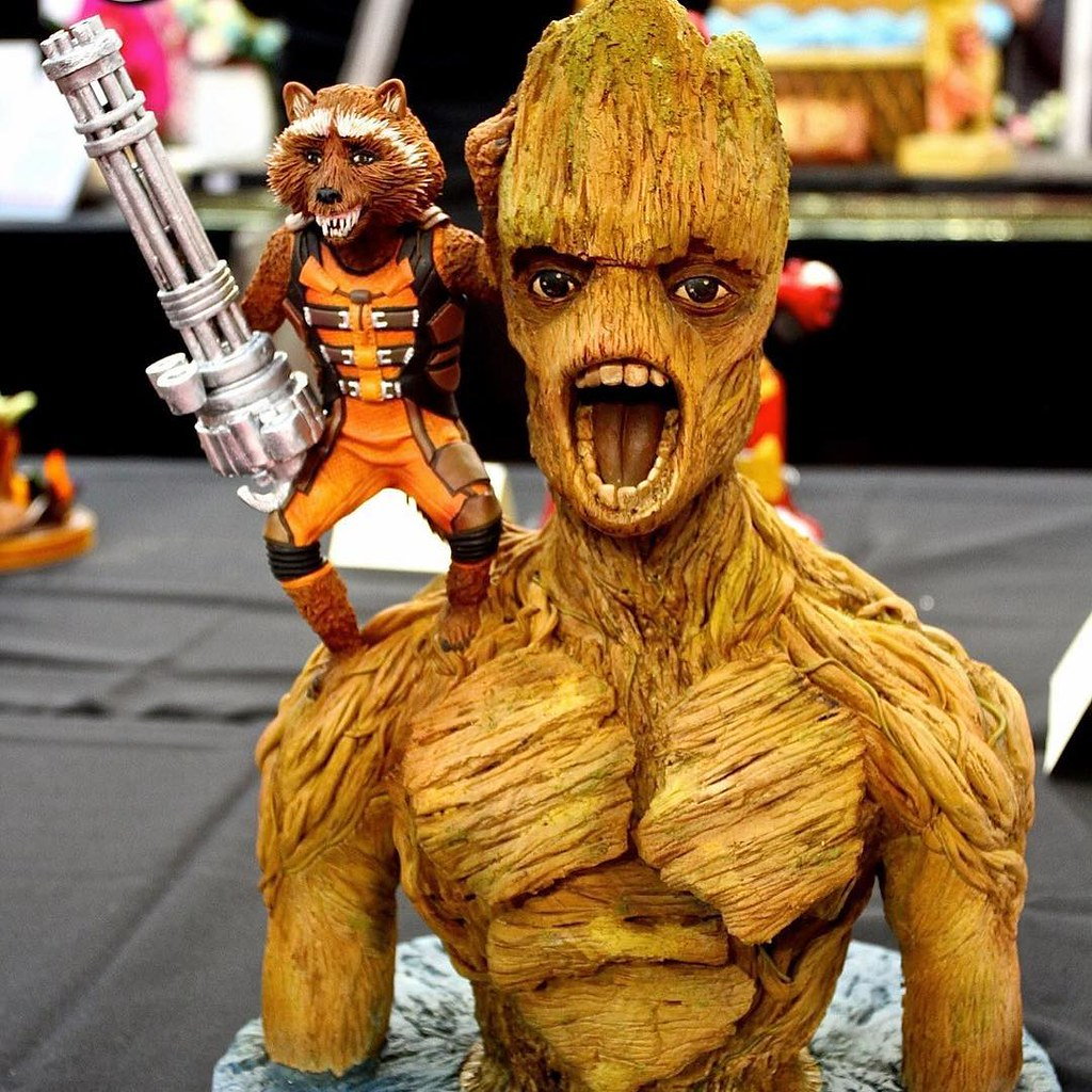 Guardians of the Galaxy Rocket & Groot at Cake International 2016
