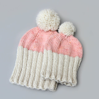Sizes Adult S-M, Toddler in It's a Stitch Up Marshmallow Cloud 'Natural' and 'Baby Cakes'