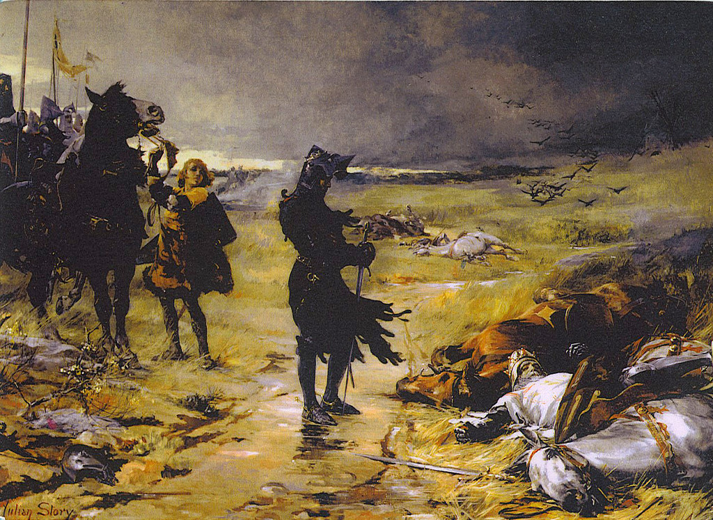 The 16-year-old Black Prince at the Battle of Crecy by Julian Russel, 1888