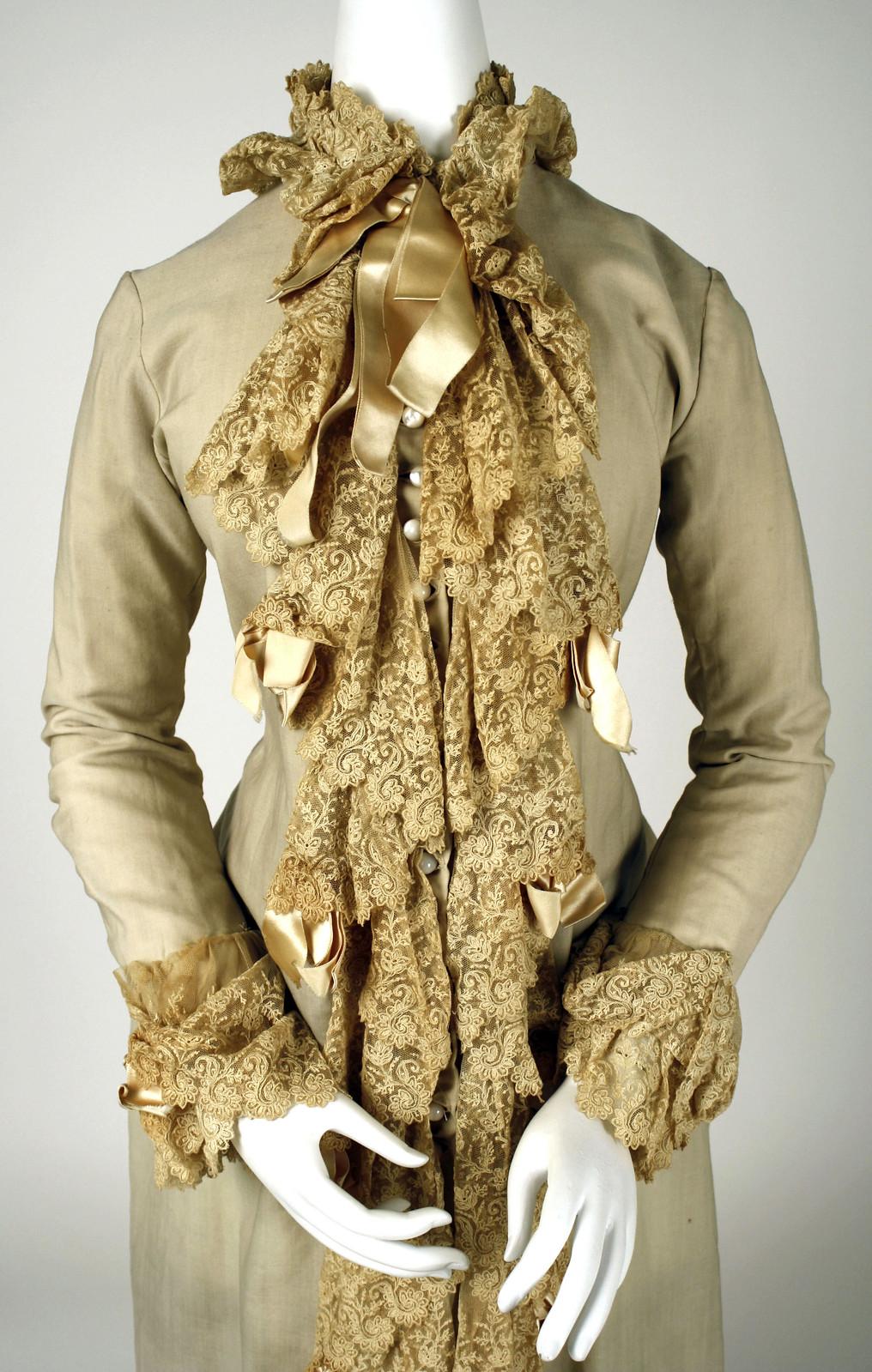 Dressing gown, 1880-90, American, wool, metmuseum