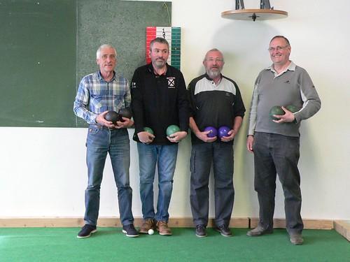 09/04/2016 - Guérande : Les finalistes du concours de boules plombées en doublettes mêlées