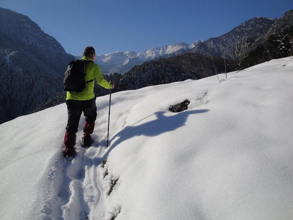 Τις χιονισμένες βουνοκορφές του Ολύμπου θα αντικρίσουν από κοντά αν βοηθήσουν και οι συνθήκες οι αθλητές του WAR | Photo (c): Λάζαρος Ρήγος