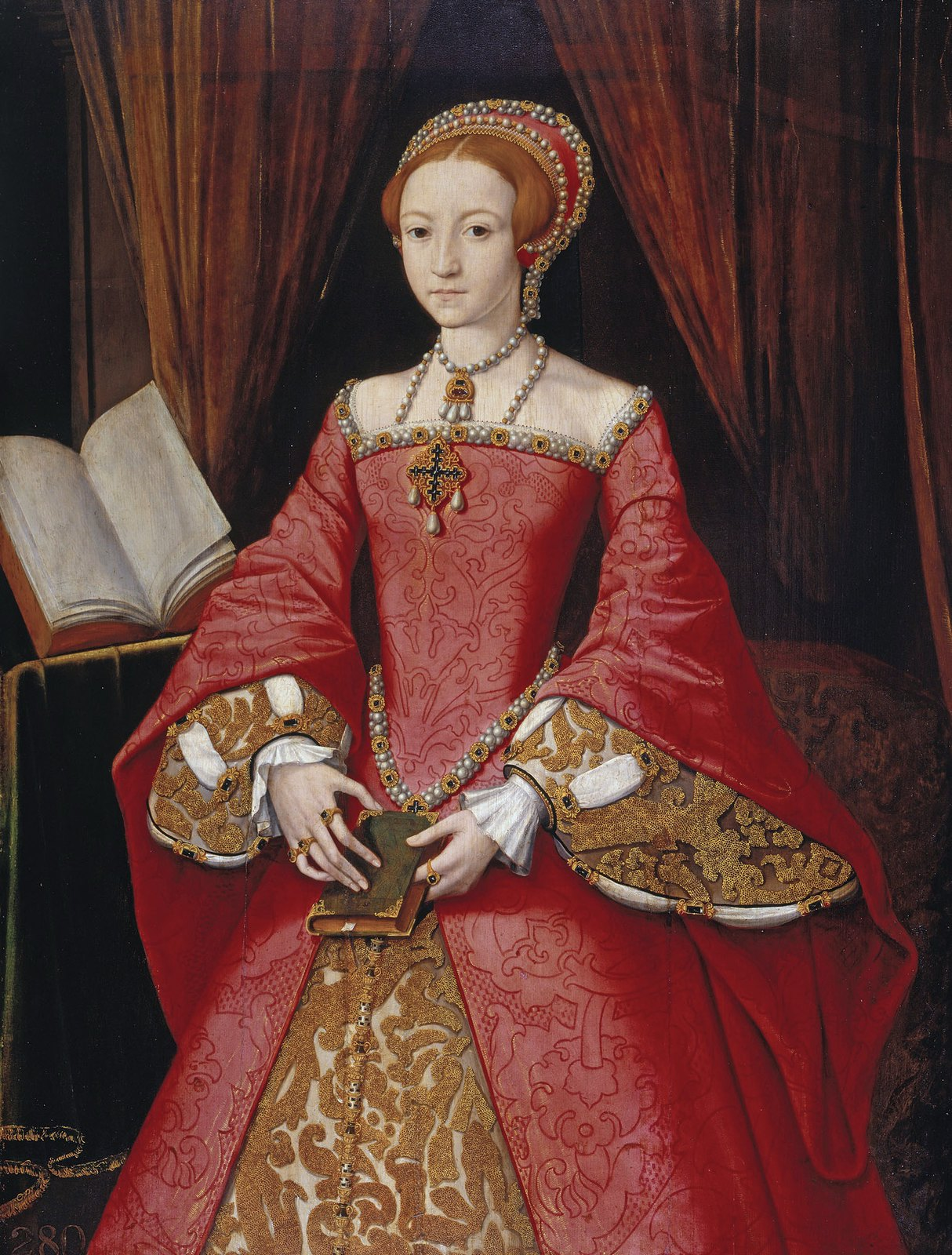 The Lady Elizabeth in about 1546, by an unknown artist.