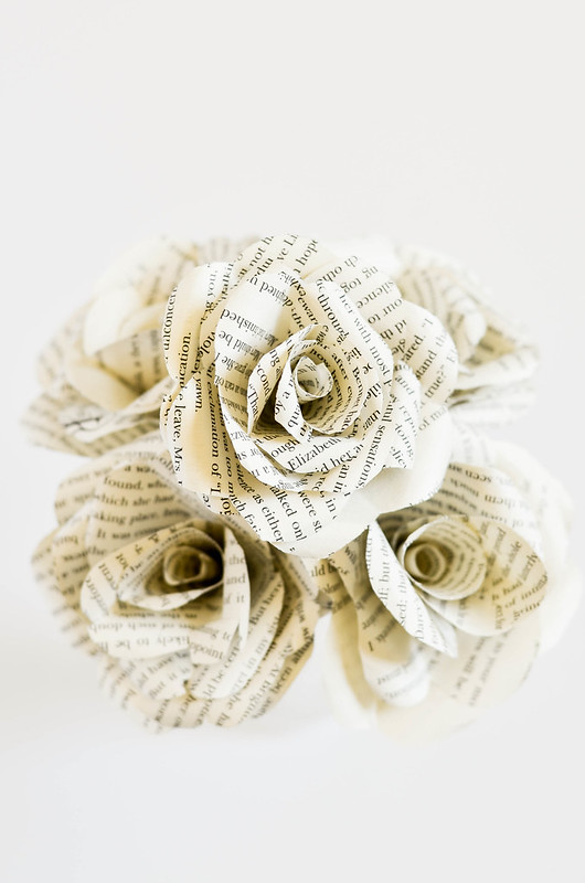 DIY Book Flowers