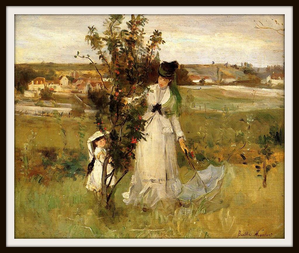 Hide and Seek by Berthe Morisot, 1873.