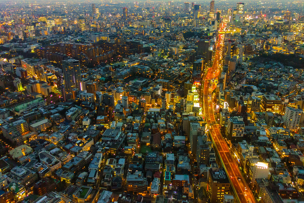 Panoramic View of the City of Tokyo
