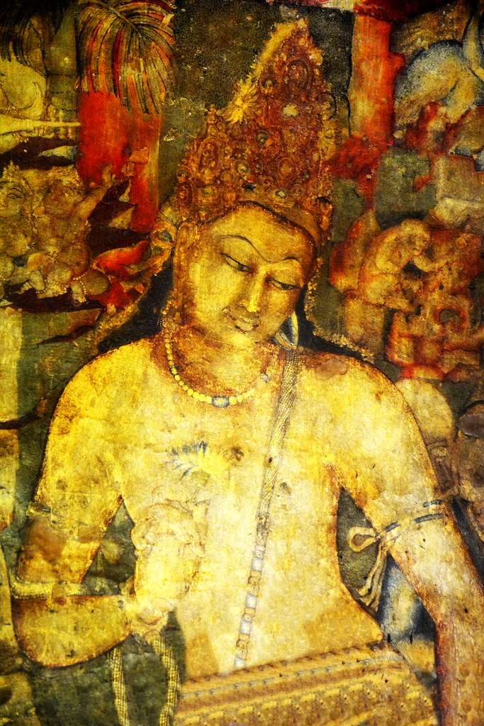India maharashtra ajanta caves cave 1 padmapani mu for Ajanta mural painting