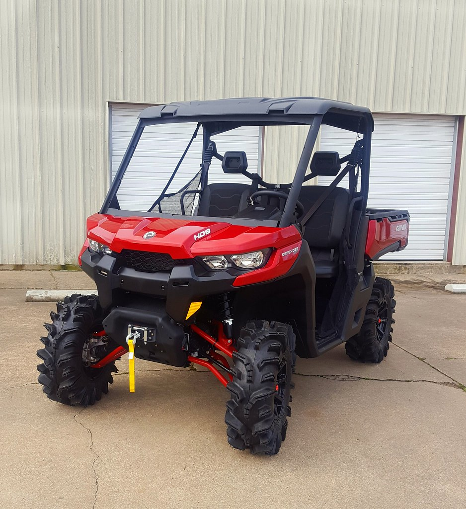 """Lifted Can Am Defender >> Canam Defender CATVOS 3"""" lift with high clearance front an… 