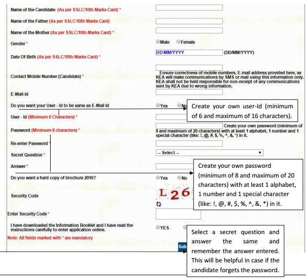 Karnataka CET 2017 Online Application Form