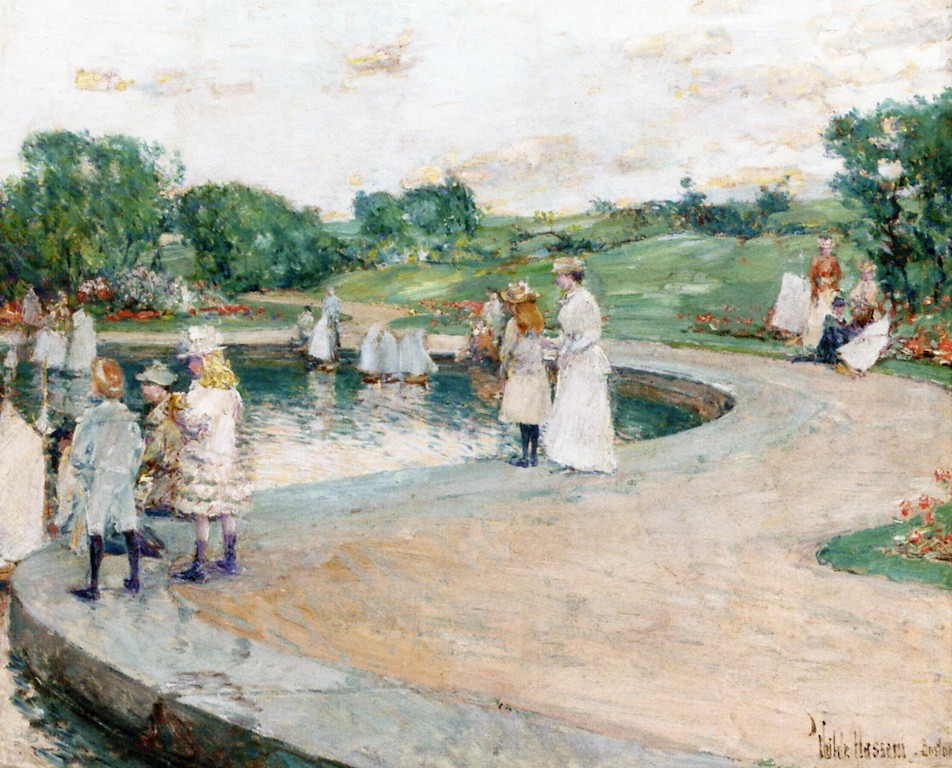 Children in the Park, Boston by Frederick Childe Hassam (1859 - 1935)