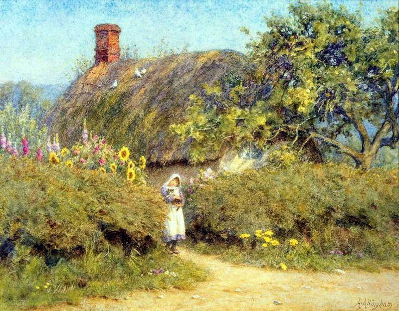 A Surrey Cottage by Helen Allingham