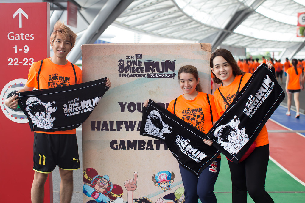 One Piece Run towels