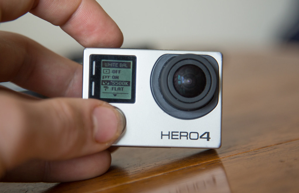 Changing the gopro camera settings for 360 filming. Kelvin level