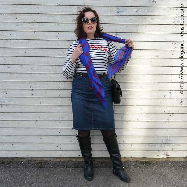 how to wear stripes over 40