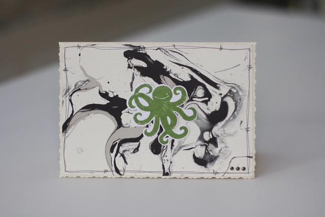 Sea Street octopus ink card by StickerKitten