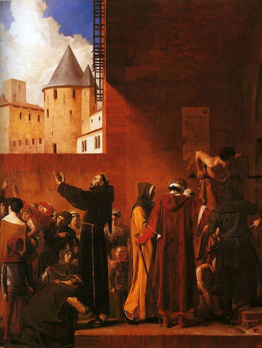La Délivrance des emmurés de Carcassonne by Jean-Paul Laurens, 1879