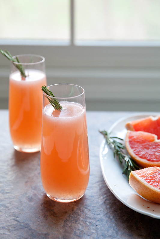 Gin, Grapefruit and Rosemary Cocktail