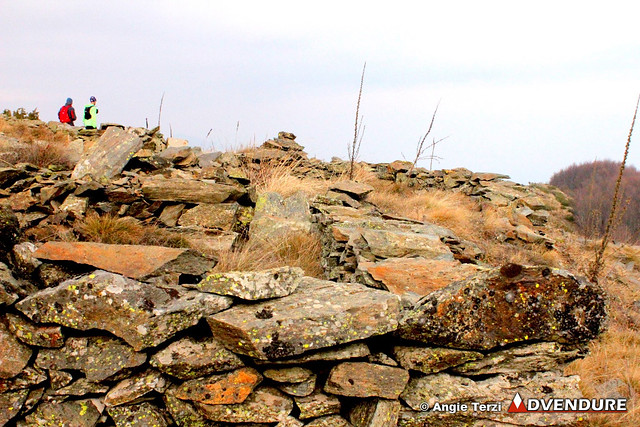 Crossing the ridge - ruins from difficult times!