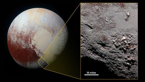 VCSE - VCSE - Wright hegység a Pluto felszínén- NASA, New Horizons