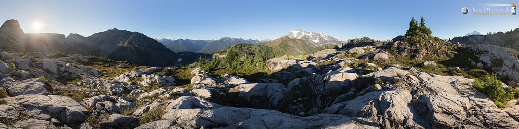Heather Meadows Panorama