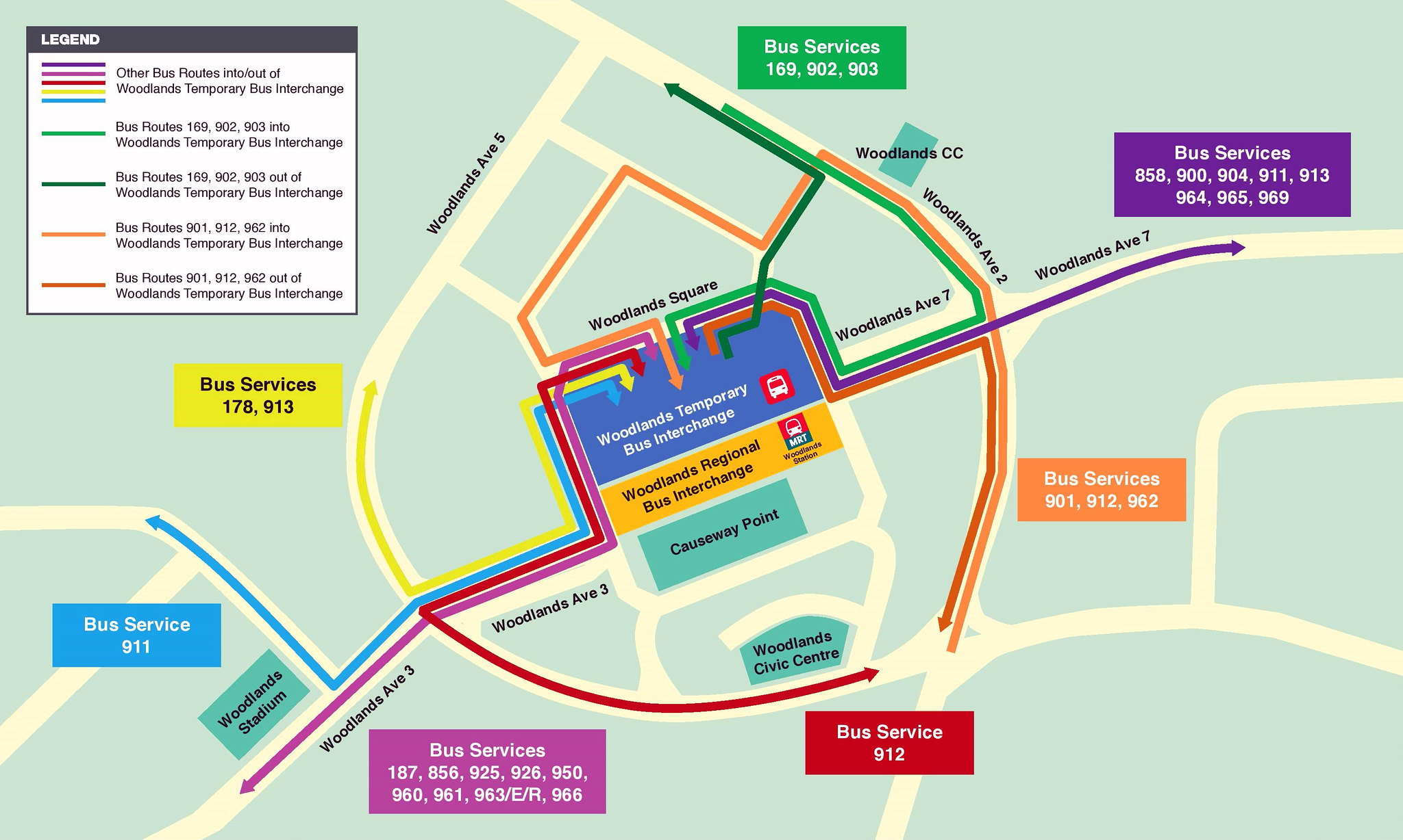 Woodlands Temporary Bus Interchange | Land Transport Guru