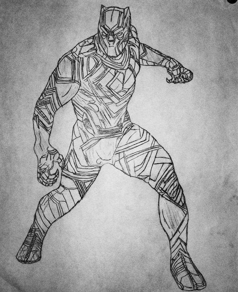 black panther drawing topaz bricks flickr