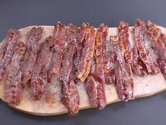 Glazed bacon