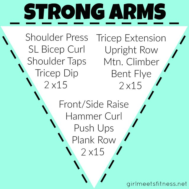 Strong Arms Workout! Strength circuit for your upper body. - GirlMeetsFitness.net