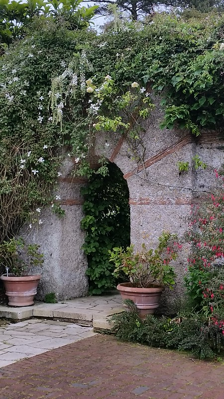 archway with roses
