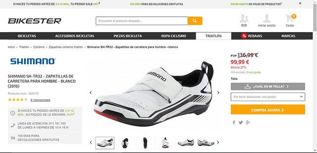 zapatilla shimano ciclismo barata
