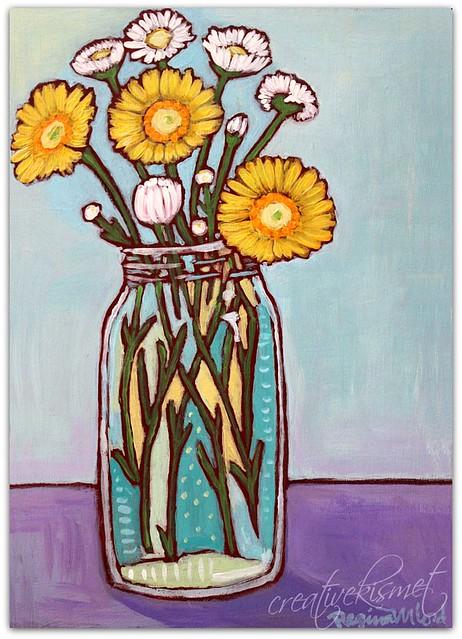 Little Flowers - Art by Regina Lord creativekismet.com